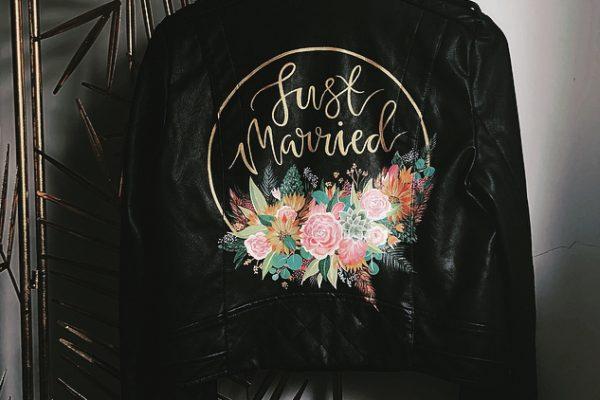 Pinterest painted wedding jacket