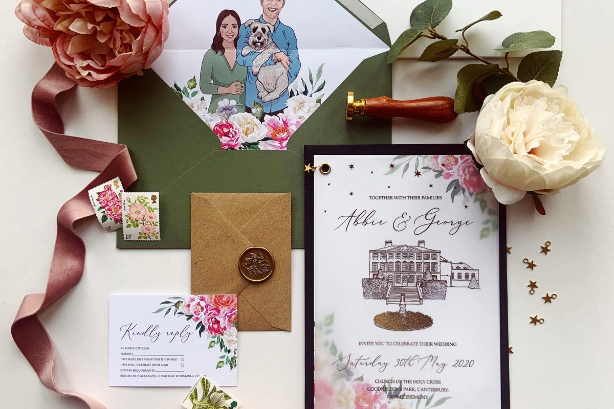 Abbie Mama Inc Wedding Invite UK Stationery Bespoke Design Illustration