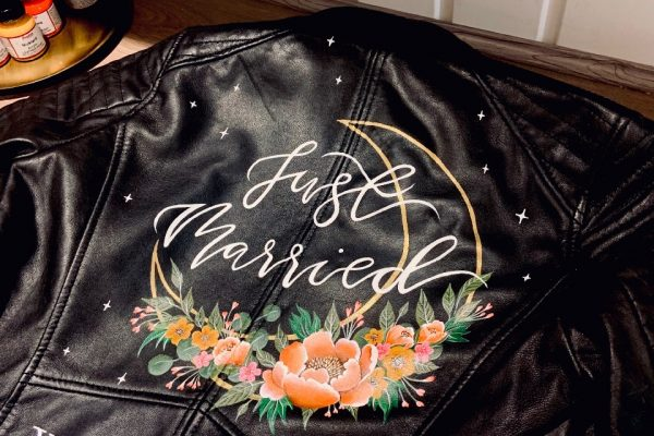 just married mama inc painted jacket